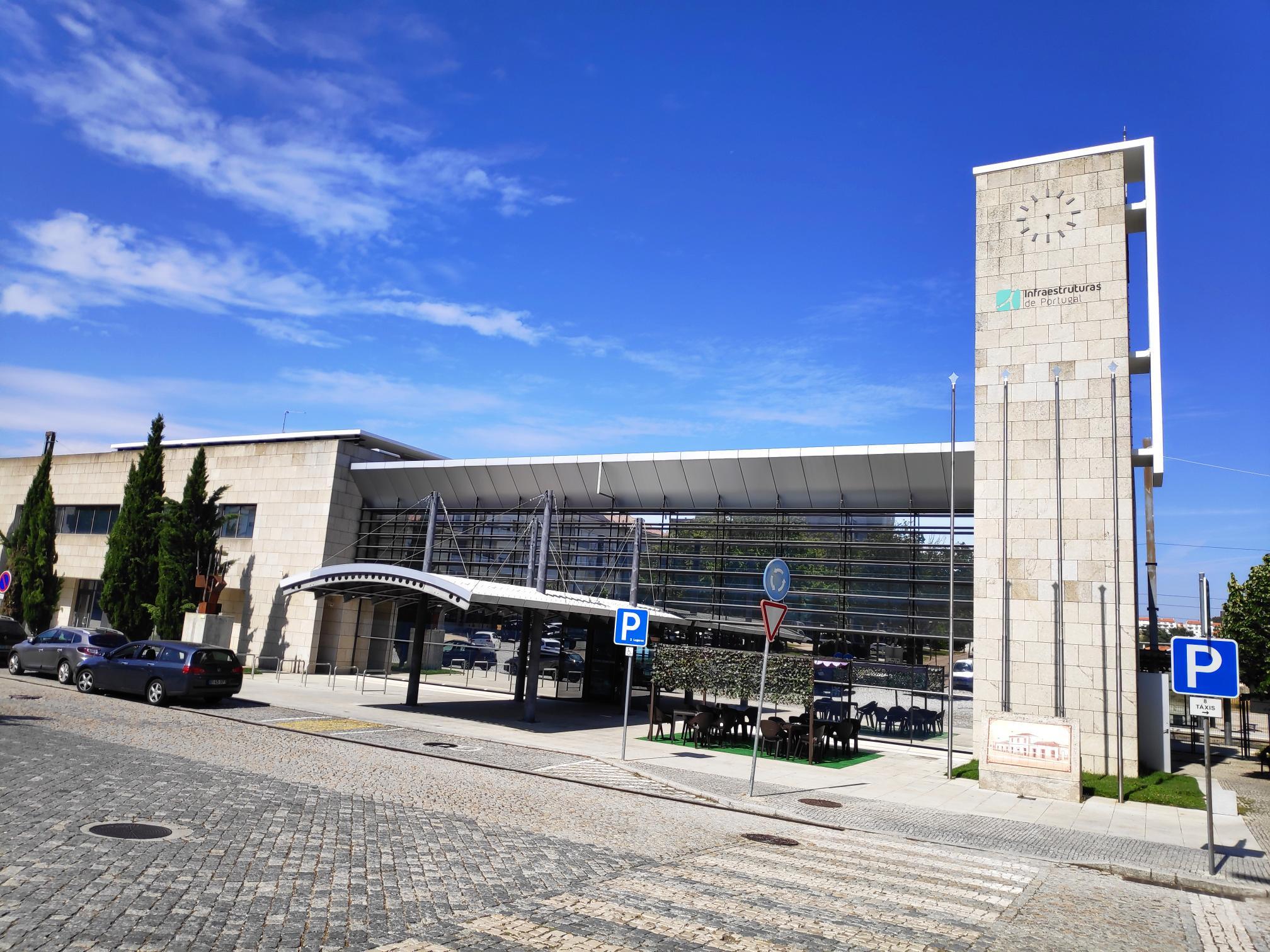 Visita sindical à Guarda, edifício principal.