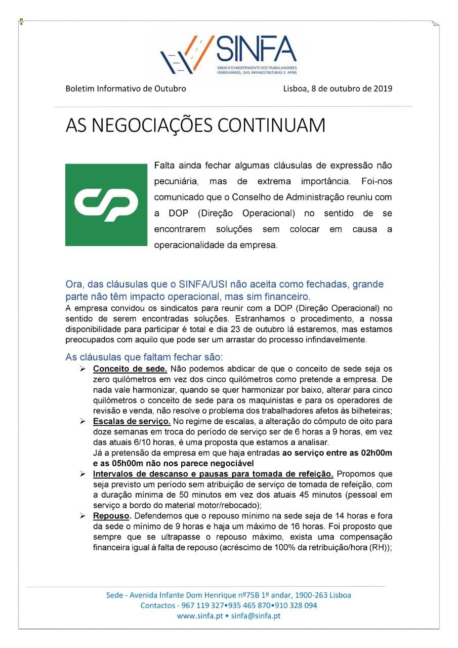 BOLETIM INFORMATIVO DE OUTUBRO