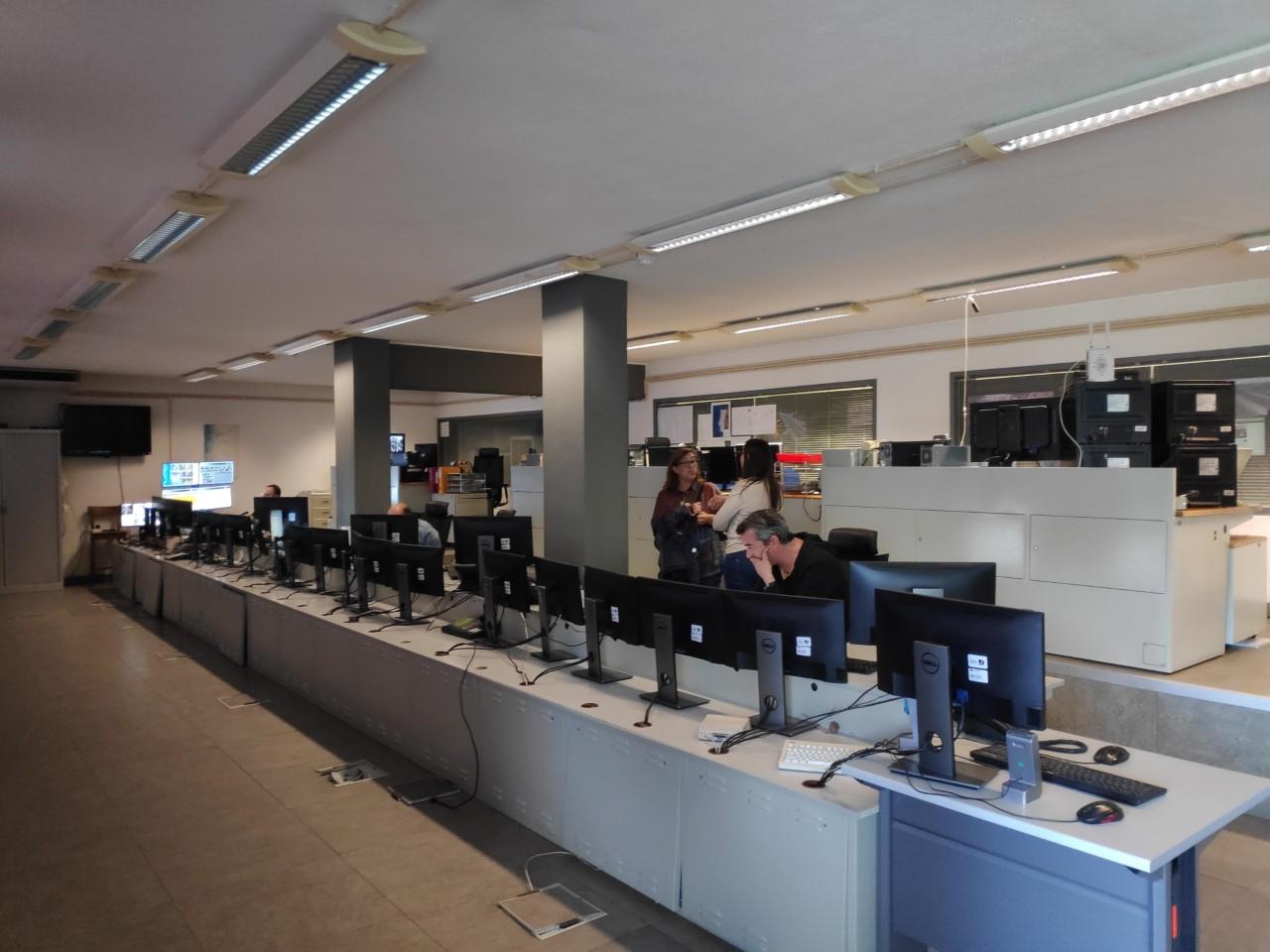 Visita sindical ao  Centro de Controle de Tráfego